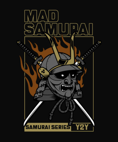 T-Shirt Design Maker Featuring an Angry Samurai Graphic 4179-el1