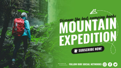 YouTube Thumbnail Design Maker for Travelers Featuring an Outdoor Theme 4169e-el1