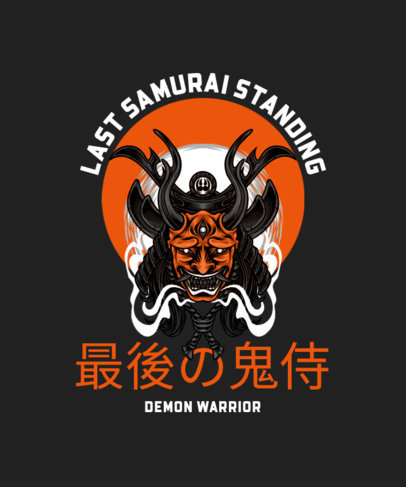 T-Shirt Design Creator Featuring a Japanese Mask of a Horned Demon 4181b-el1