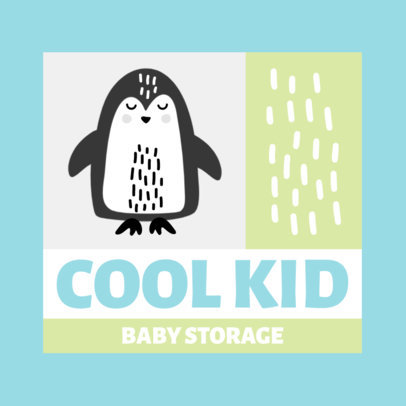 Online Logo Maker for Baby Product Stores With a Penguin Icon 4191a-el1