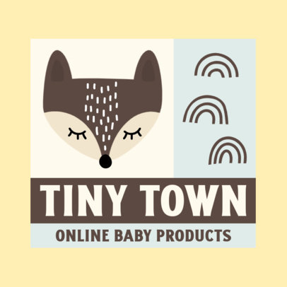 Baby Store Logo Generator With a Cute Fox Illustration 4191d-el1