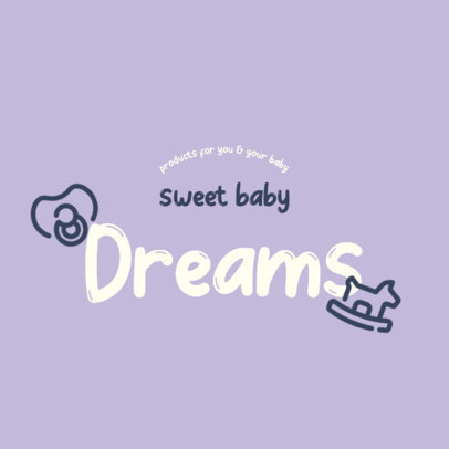 Baby Products Store Logo Maker With a Minimal Style 4185d-el1