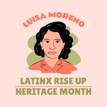 Instagram Post Creator Featuring Latin Leader Luisa Moreno 3860d