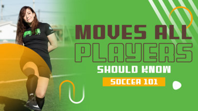 YouTube Thumbnail Maker for a Soccer Training Channel 4165d-el1