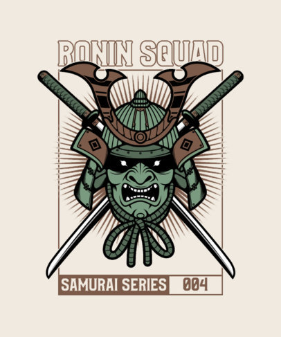 T-Shirt Design Creator Featuring Evil Samurai Characters 4179b-el1