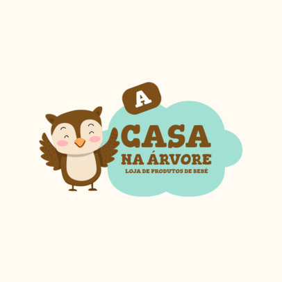 Logo Template for Baby Products Featuring an Owl Graphic 4189a-el1