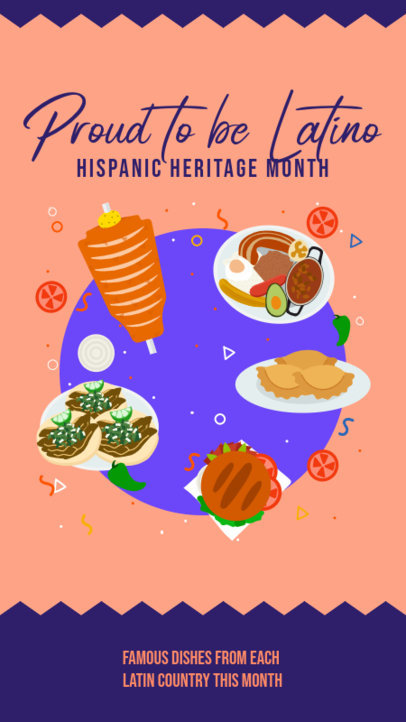 Instagram Story Maker for a Hispanic Heritage Month Food Festival 3862d