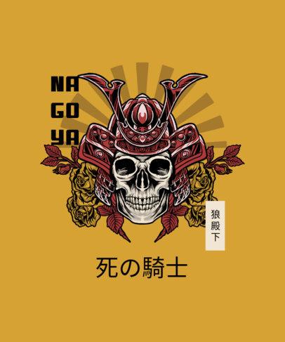 T-Shirt Design Maker with a Graphic of a Skull Wearing a Samurai Helmet 4173e-el1