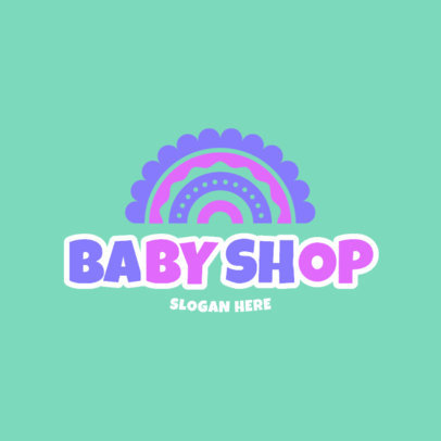 Logo Generator for a Baby Products Shop with a Cute Graphic 4496b