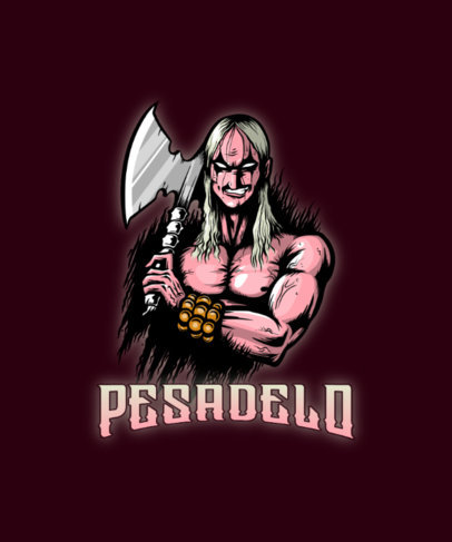 Metal-Styled T-Shirt Design Maker with an Illustration Inspired by Simon Belmont 4503a