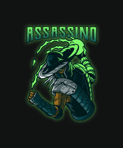 T-Shirt Design Creator with a Mortal Kombat-Inspired Graphic in a Metal Style 4503b