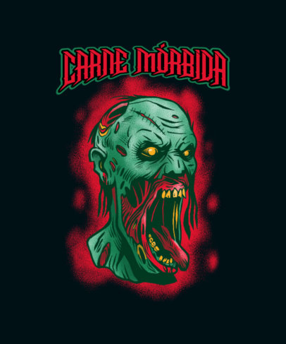 Gaming T-Shirt Design Generator Featuring an Evil Zombie Illustration 4501b