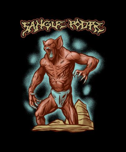 T-Shirt Design Maker Featuring an Aggressive Monster Illustration 4501d