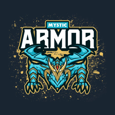 Gaming Logo Creator with an Armored Dragon Graphic 4129f-el1
