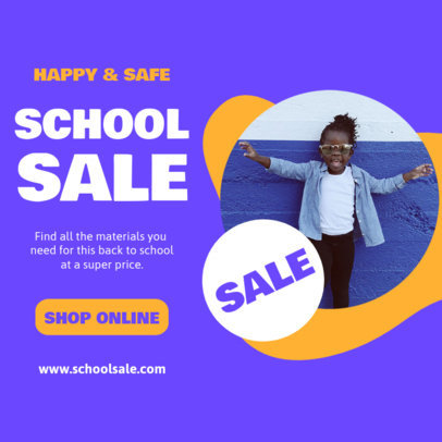 Instagram Post Generator With a Back-to-School Theme and Sales 4213b-el1