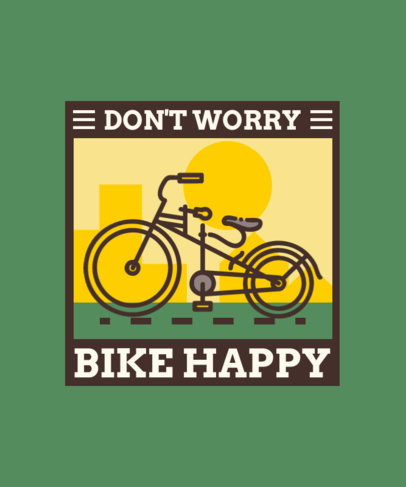 T-Shirt Design Template Featuring a Modern Penny Farthing Bike 4205a-el1