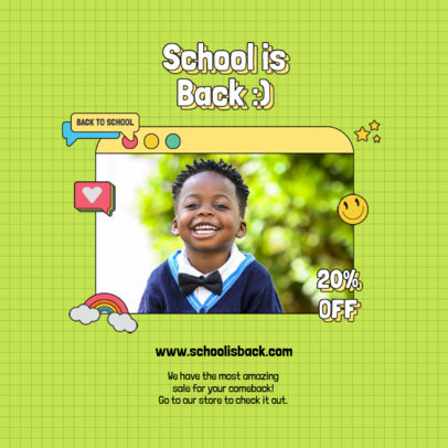 Back-to-School-Themed Instagram Post Design Template 4209b-el1