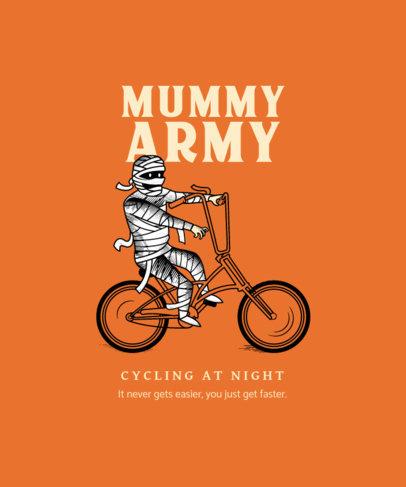 T-Shirt Design Maker Featuring a Mummy on a Bike 4199d-el1