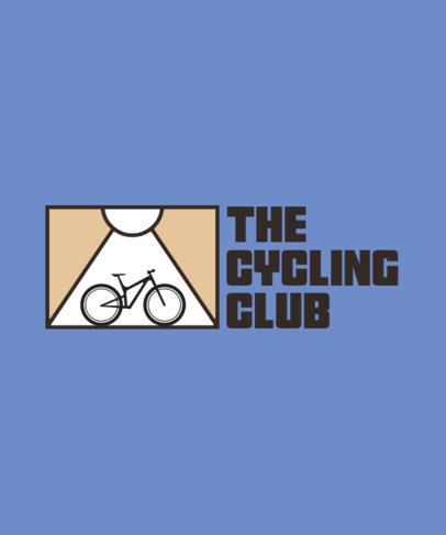 Simple T-Shirt Design Template for a Cycling Club 4207h-el1