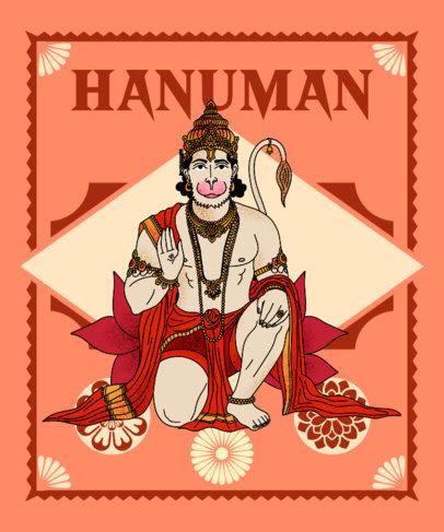 T-Shirt Design Generator Featuring an Illustration of a Hindu God 3893c