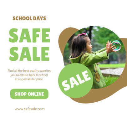 Sales-Themed Instagram Post Design Maker With a Back-to-School Theme 4213f-el1