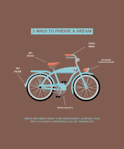 T-Shirt Design Template Featuring a Biking Theme 4203a-el1