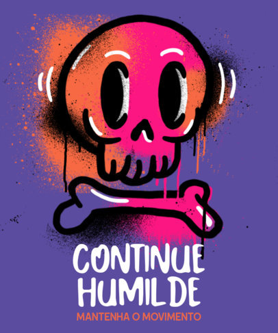 T-Shirt Design Creator Featuring a Graffiti Skull Doodle 3683b