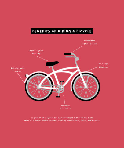 T-Shirt Design Maker With an Illustration of a Bike 4203c-el1