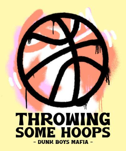T-Shirt Design Maker with a Graffiti Basketball Ball 3693a