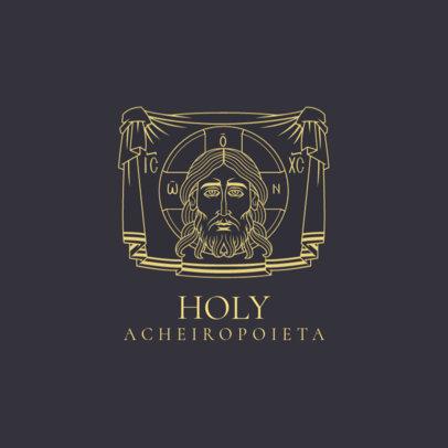 Logo Creator for a Catholic Church with a Veronica's Veil Graphic 4510c