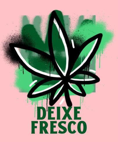 T-Shirt Design Creator with a Grunge-Style Cannabis Leaf 3683d