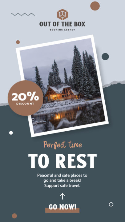 Instagram Story Generator Featuring a Limited Time Discount for Travelers 4247f-el1