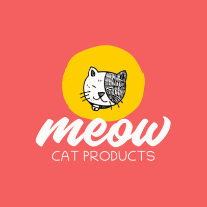 Pet Store Logo Template With a Cat Graphic 4235e-el1