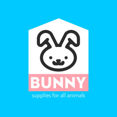 Logo Template for a Pet Store Featuring a Bunny Icon 4239f-el1