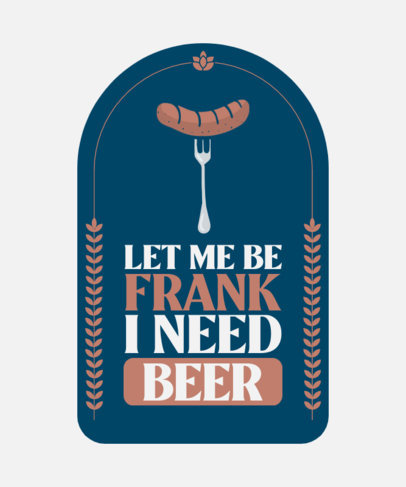 T-Shirt Design Maker for a Beer House with a German Sausage Graphic 4233c-el1