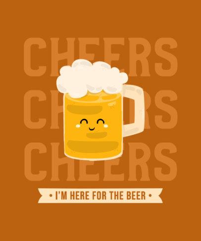 T-Shirt Design Maker Featuring Smiling Beer Characters 4229-el1