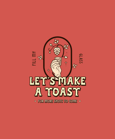 Beer-Themed T-Shirt Design Maker Featuring a Minimal Illustration and a Quote 4231a-el1