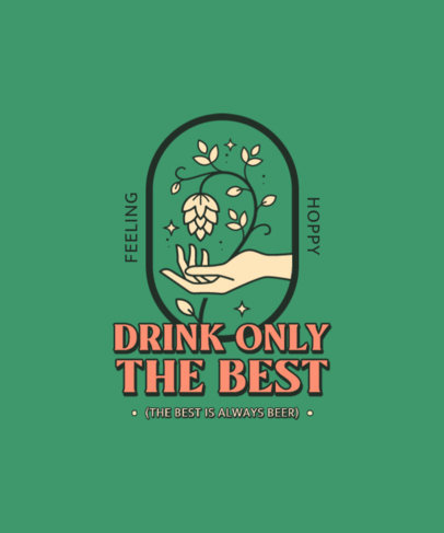 Minimal T-Shirt Design Creator With a Beer-Themed Quote 4231d-el1