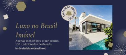 Facebook Cover Design Maker for Luxury Real Estate Agents 3909e