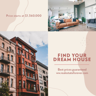 Real Estate-Themed Instagram Post Generator Featuring Pictures and Text 3907f