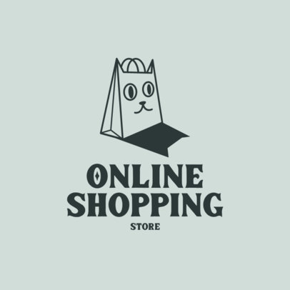 Logo Maker for POD Stores Featuring a Cat-Looking Bag 4522r