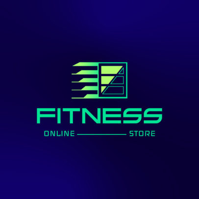 Fitness Brand Logo Maker Featuring an Abstract Icon 4528b