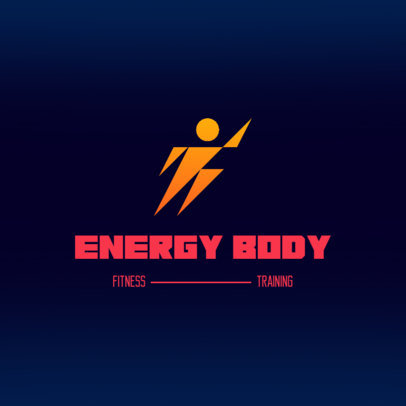 Logo Maker for an Athletic Equipment Store with a Running Man Icon 4528g