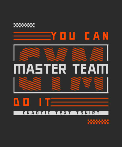 Cool T-Shirt Design Maker for Gym Enthusiasts With a Chaotic Style 4533d