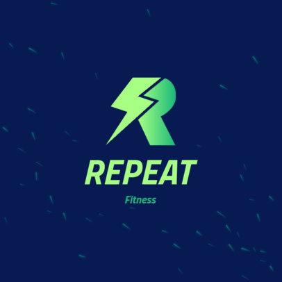 Fitness Brand Logo Generator with a Lightning Graphic 4528n
