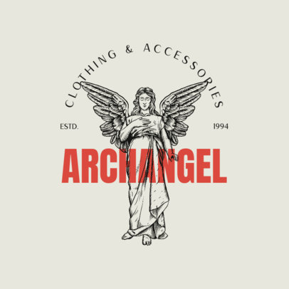 Brand Logo Maker Featuring Graphics with Guardian Angels 4552