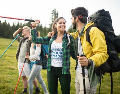 Tank Top Mockup of a Woman Enjoying a Hike with Her Boyfriend 42079-r-el2
