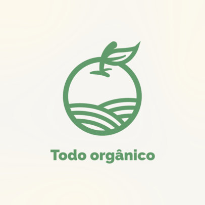 Logo Maker for an Online Grocery Store Featuring an Orange Clipart 4541e