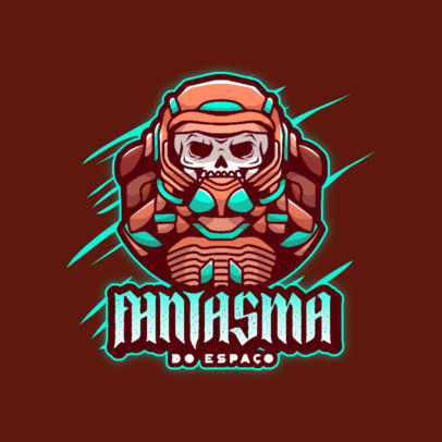 Space-Themed Gaming Logo Maker With Skull Graphics 4562