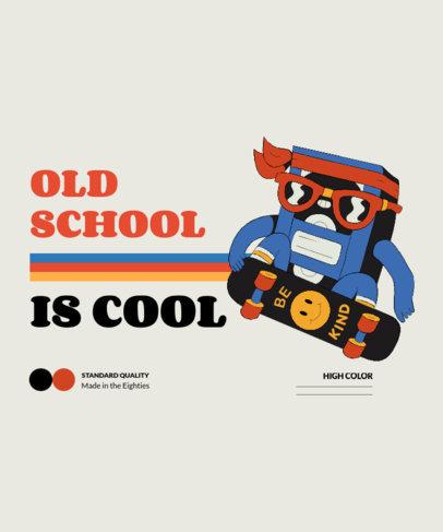T-Shirt Design Maker Featuring Retro Nostalgia Illustrations 3939